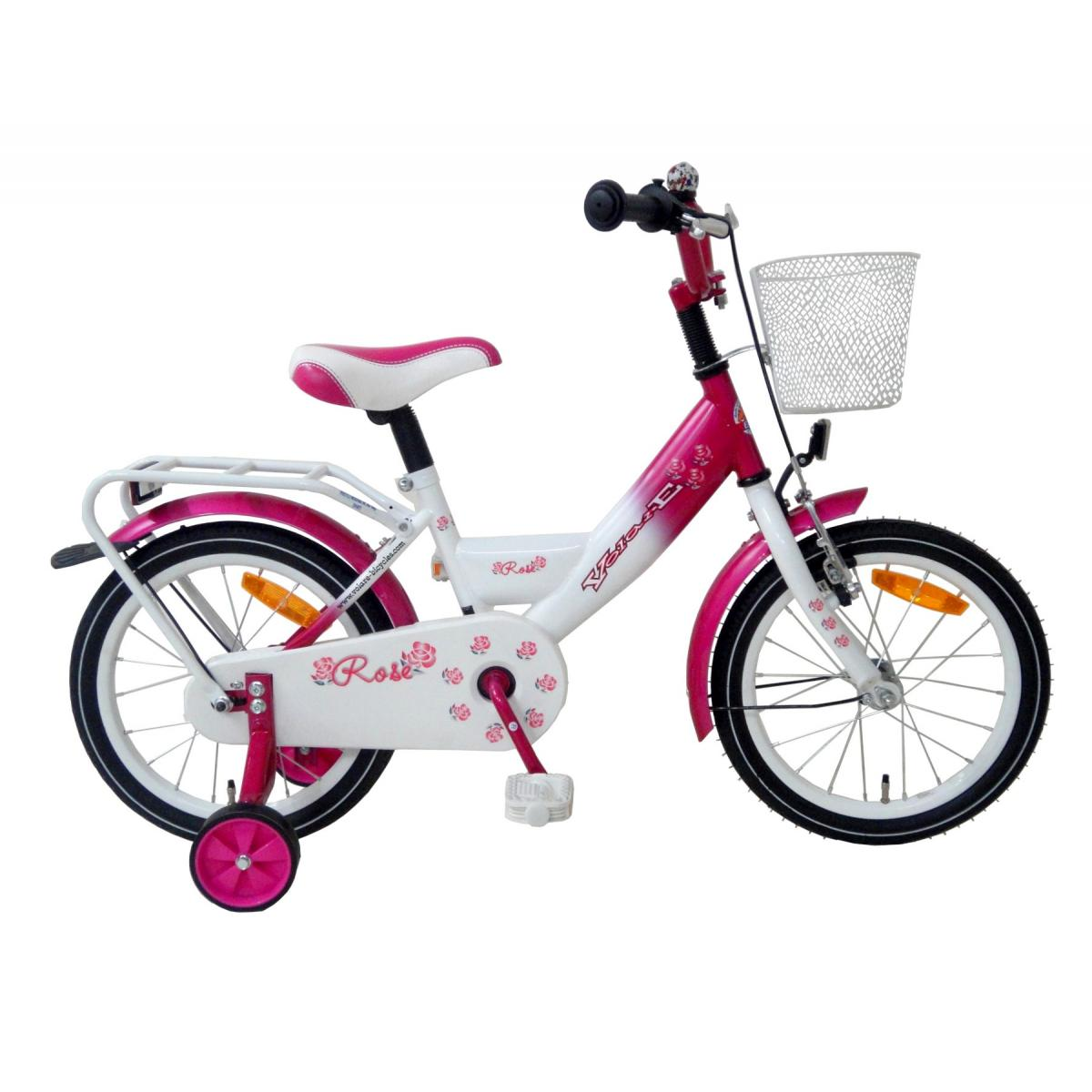 16 zoll kinderfahrrad m dchen volare rose kinder fahrrad pink wei ebay. Black Bedroom Furniture Sets. Home Design Ideas