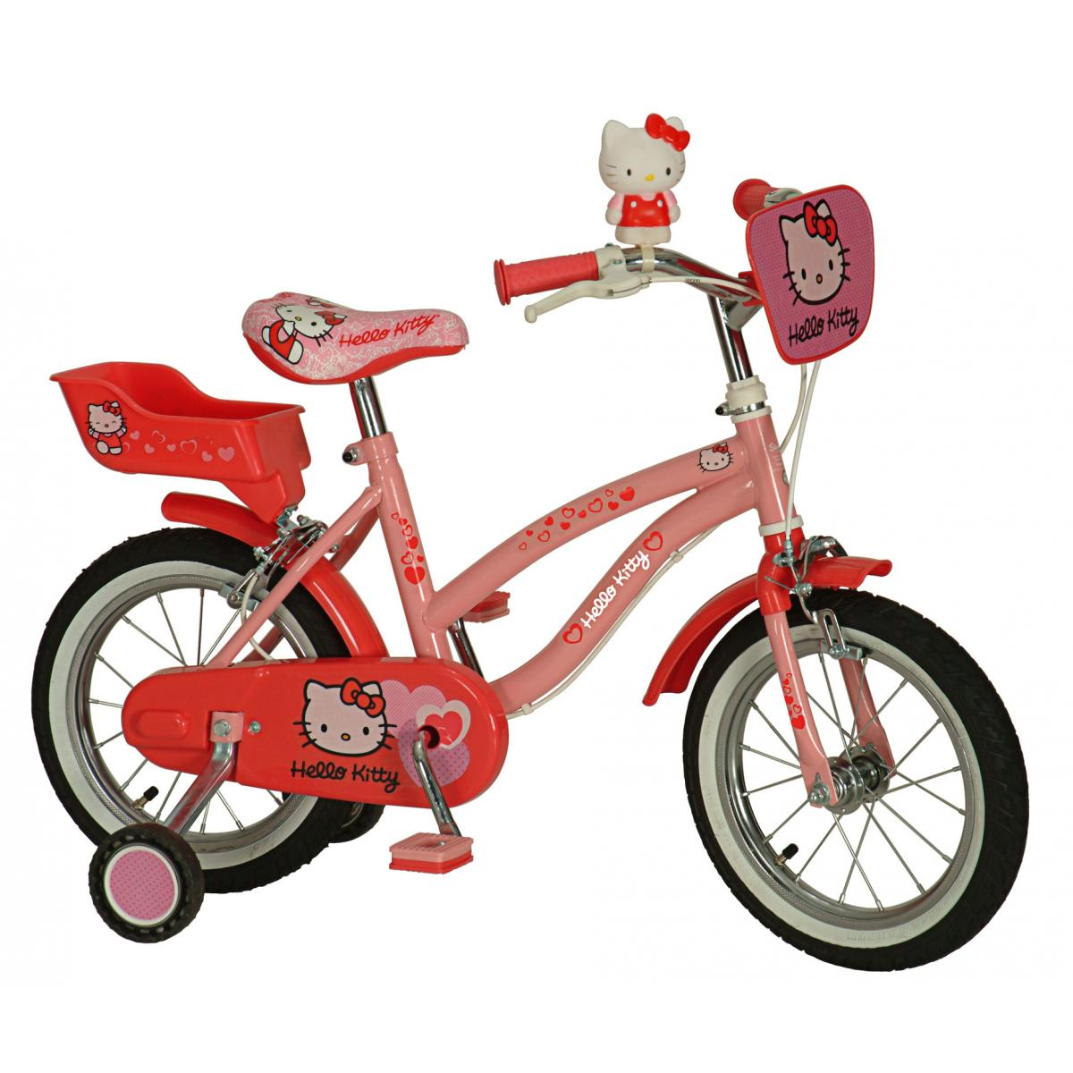 hello kitty fahrrad 14 zoll von yakari kinderfahrrad f r. Black Bedroom Furniture Sets. Home Design Ideas