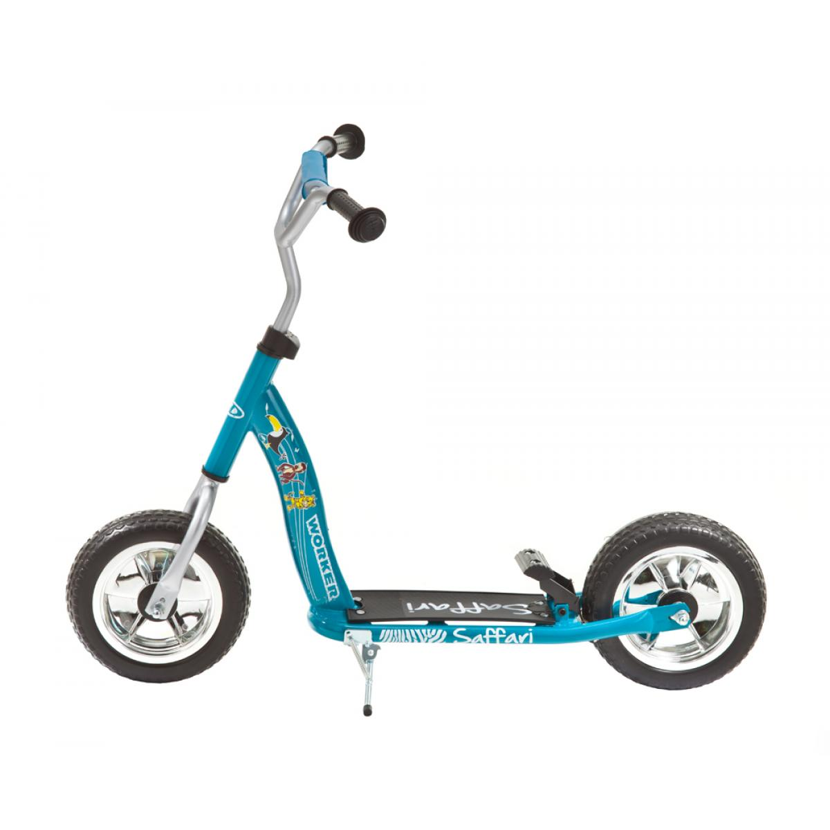 kinderroller 10 zoll saffari 100 blau scooter mit bremse. Black Bedroom Furniture Sets. Home Design Ideas