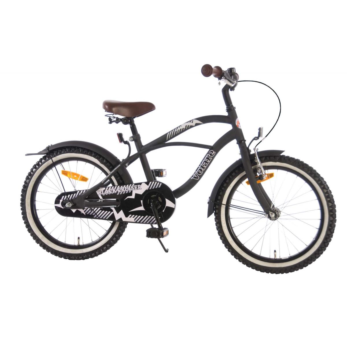 kinderfahrrad volare black cruiser 18 zoll mattschwarz. Black Bedroom Furniture Sets. Home Design Ideas