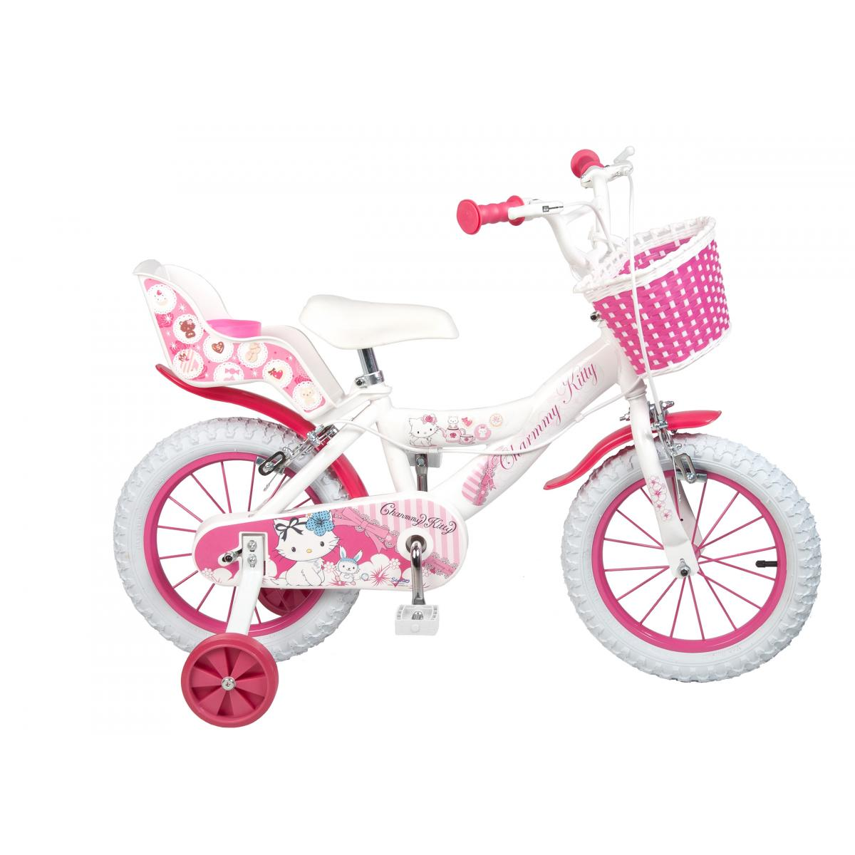 charmmy kitty kinderfahrrad 12 14 16 zoll kinder m dchen fahrrad mit puppensitz ebay. Black Bedroom Furniture Sets. Home Design Ideas