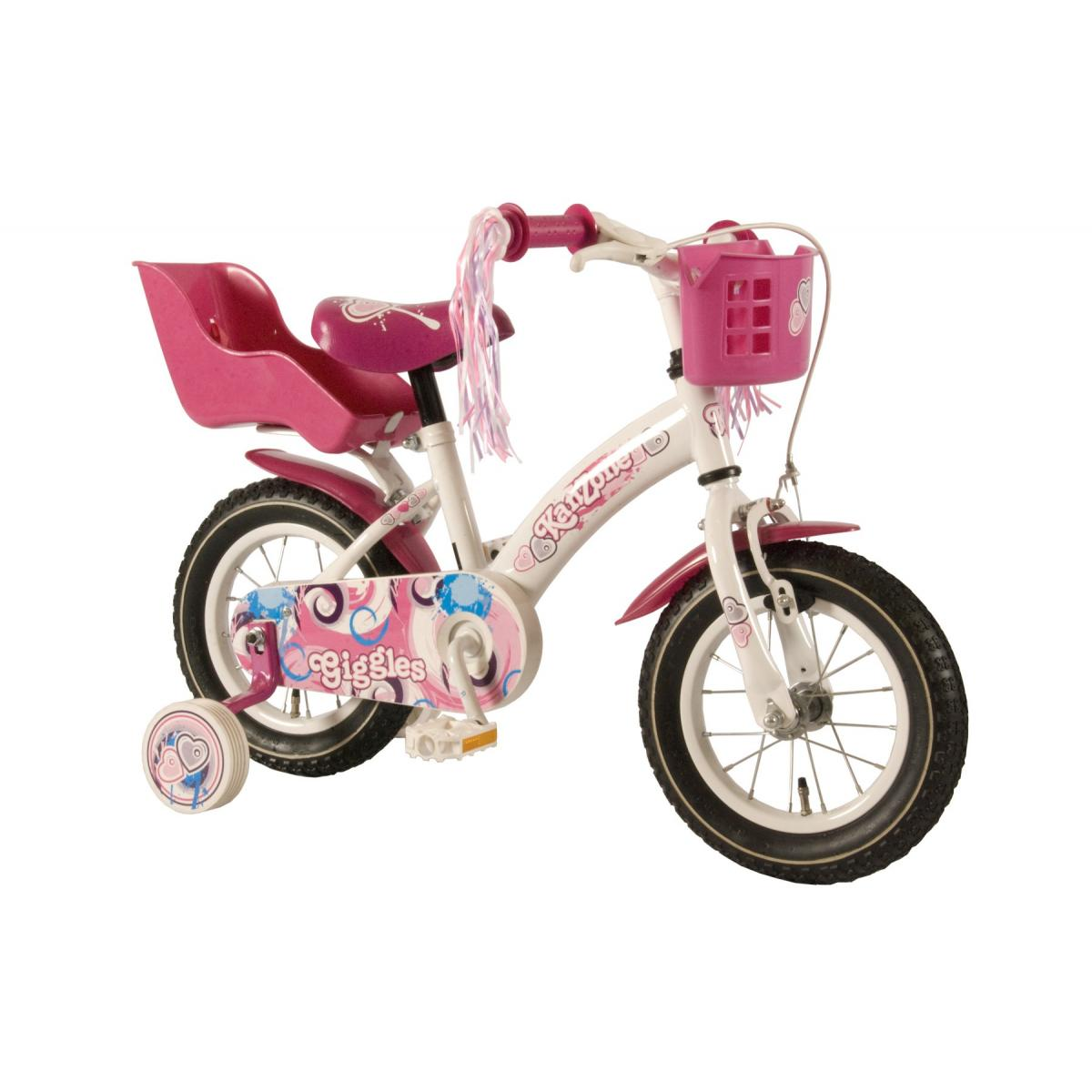 kanzone kinderfahrrad giggles 12 zoll wei rosa kinder. Black Bedroom Furniture Sets. Home Design Ideas