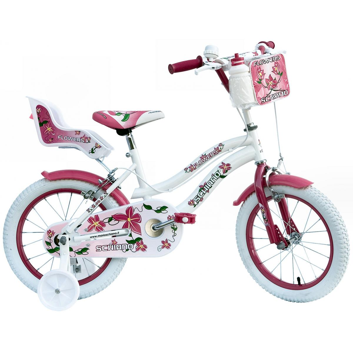 kinderfahrrad schiano flowers 16 zoll fahrrad kinder 5 6. Black Bedroom Furniture Sets. Home Design Ideas
