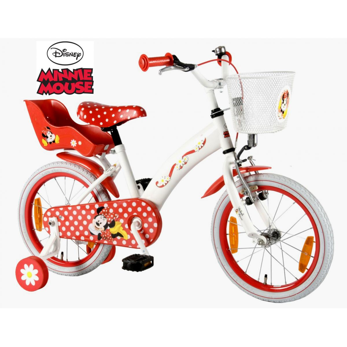 kinderfahrrad disney minnie 16 zoll m dchen fahrrad 5 6 7. Black Bedroom Furniture Sets. Home Design Ideas