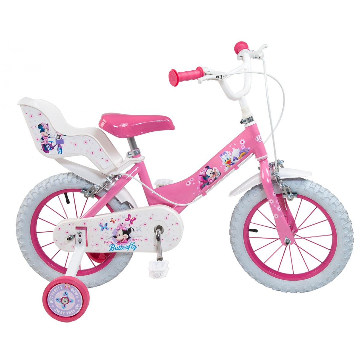 kinderfahrrad disney minnie mouse 14 zoll m dchen minnie. Black Bedroom Furniture Sets. Home Design Ideas