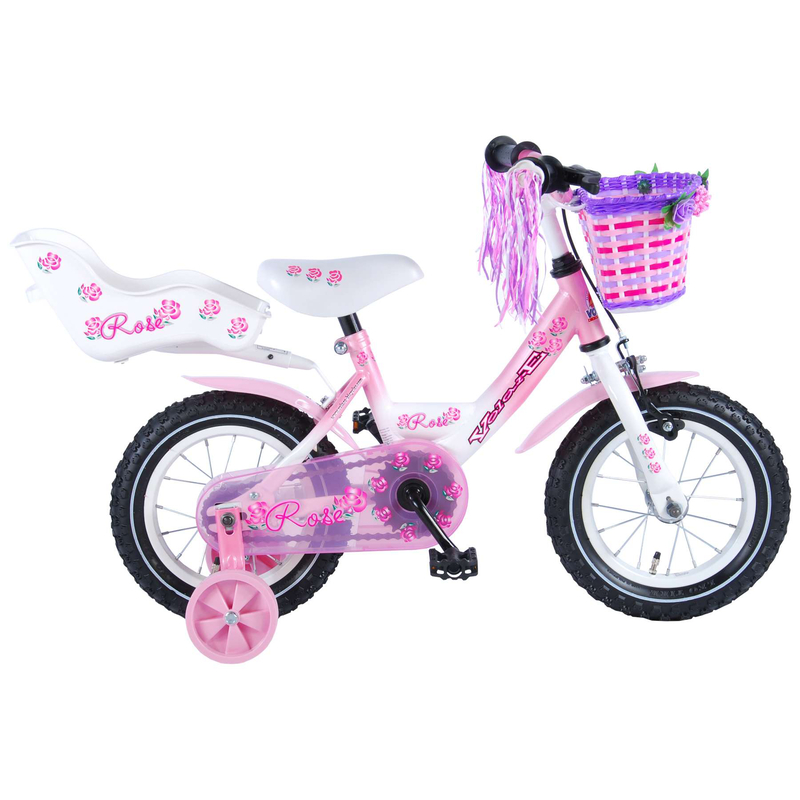 kinderfahrrad volare rose 12 zoll m dchen puppensitz korb. Black Bedroom Furniture Sets. Home Design Ideas