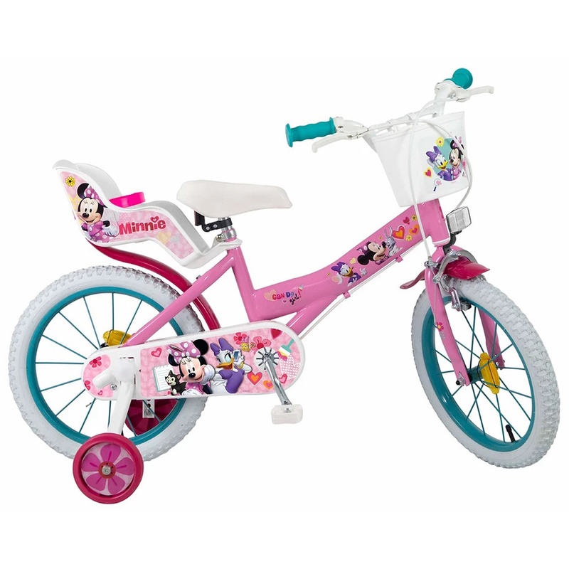 kinderfahrrad disney minnie mouse 16 zoll m dchen 109 90. Black Bedroom Furniture Sets. Home Design Ideas