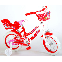 Kinderfahrrad Volare Lovely 14 Zoll Rot/Weiß...