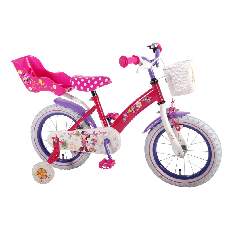 kinderfahrrad disney minnie mouse bow tique 14 zoll mit. Black Bedroom Furniture Sets. Home Design Ideas