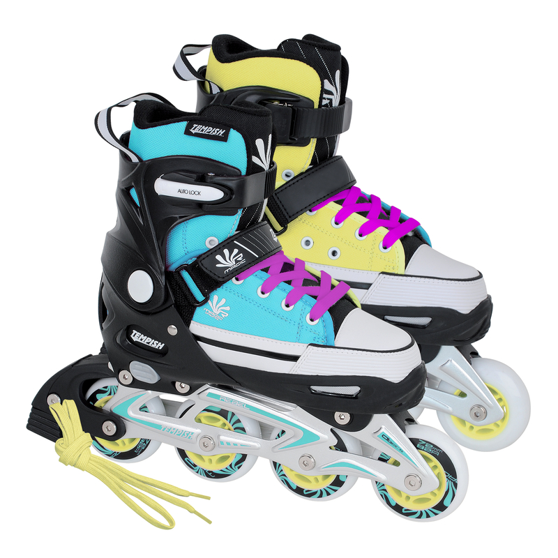 15aa2e641cd Inlineskates Tempish Rebel Magic - blau/gelb Gr. 33-36, 37-40, 40-43 ...