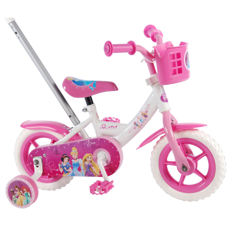 kinderfahrrad disney princess 10 zoll mit schubstange 79 90. Black Bedroom Furniture Sets. Home Design Ideas